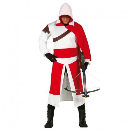 Disfraz de mercenario templario para adulto
