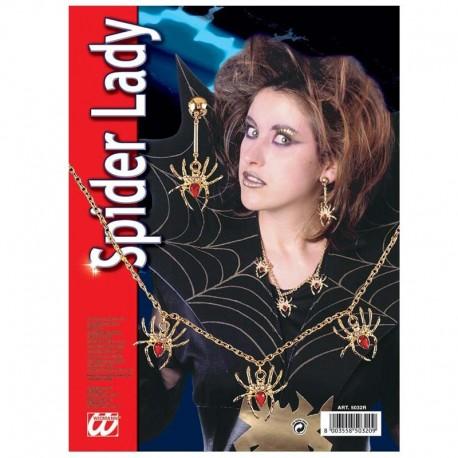 Colgante y pendiente de arañas