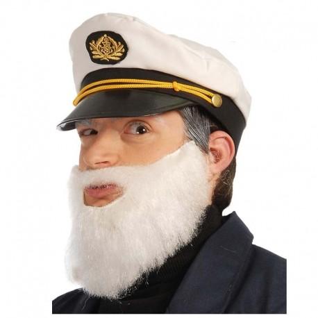 Barba lisa adulto blanca