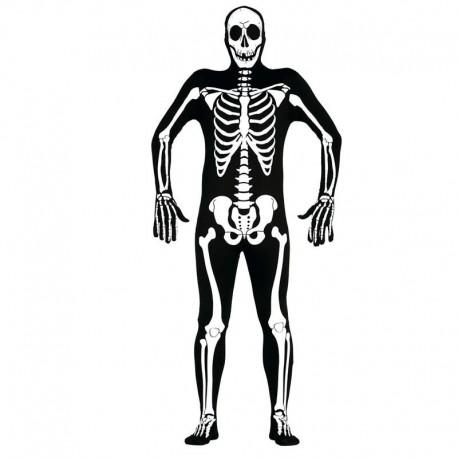 Disfraz de esqueleto de chico para adulto