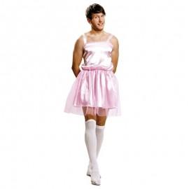 Disfraz de bailarina rosa hombre para adulto
