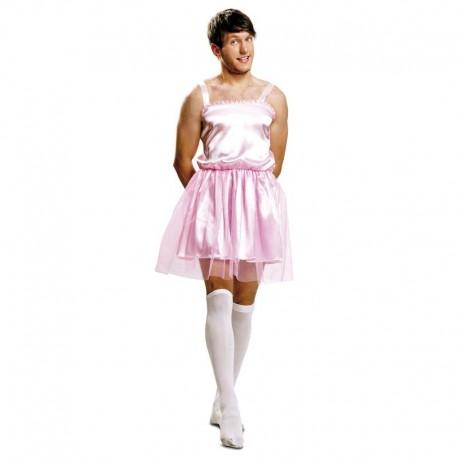Disfraz de bailarina rosa hombre