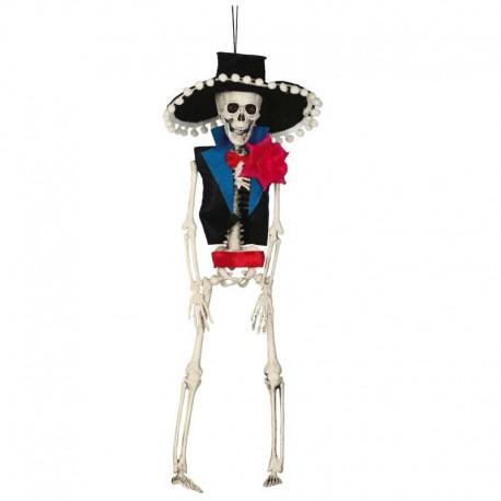 Colgante esqueleto mexicano