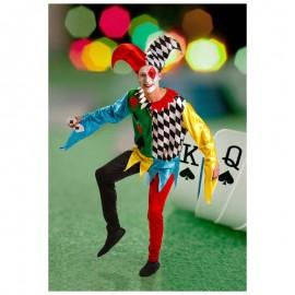Disfraz de bufon multicolor