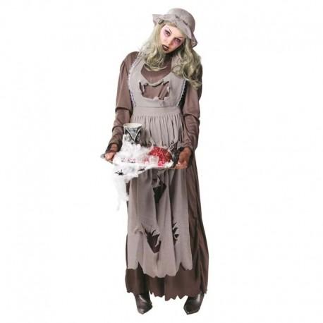 Disfraz de doncella zombie para adulto