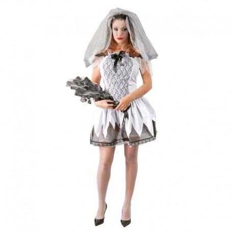 Disfraz de novia cadaver sexy