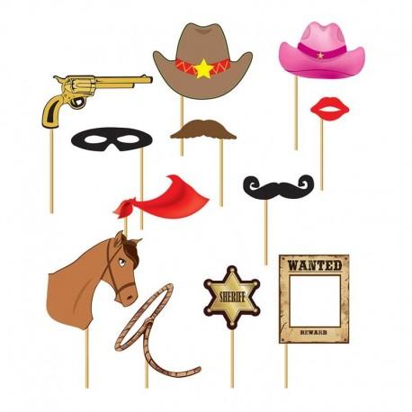 Set photocall cowboy 12 piezas
