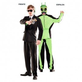 Disfraz doble fun alien-traje negro para adulto