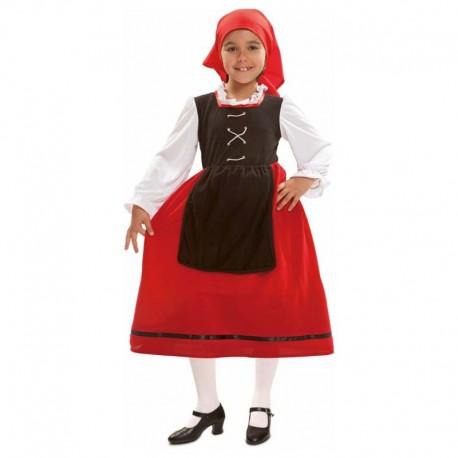 Disfraz de pastora aldeana 7-9 años
