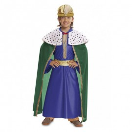 Disfraz de rey mago azul 7-9 años