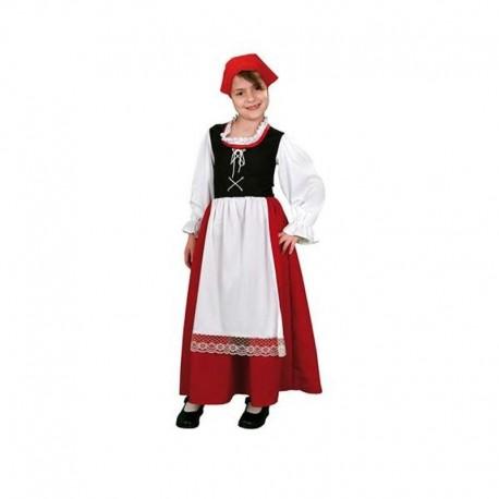 Disfraz de aldeana pastora 5-6 años