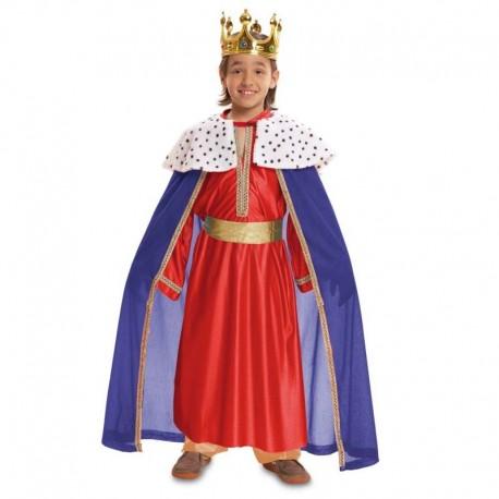 Disfraz de rey mago rojo 5-6 años