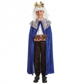 Capa de rey mago infantil azul