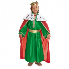 Disfraz de rey mago verde 3-4 años