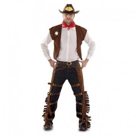 Disfraz de sheriff zahones para adulto