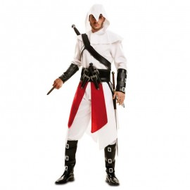 Disfraz de Assassins Creed blanco para adulto