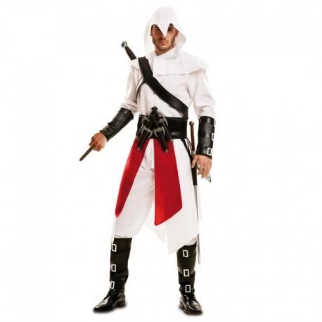Disfraz de Assassins Creed blanco para adulto