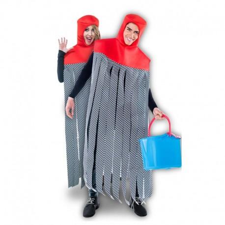 Disfraz de fregona Vileda para adulto