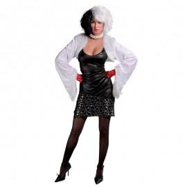 Disfraz de Cruella sexy para adulto