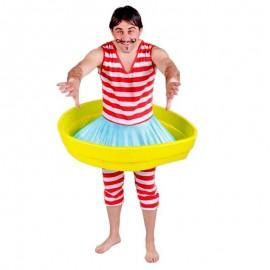 Disfraz de bañista antiguo para adulto
